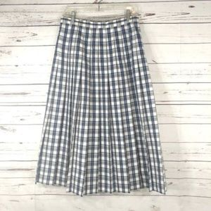 Orvis golf skirt size 14 plaid pleated below knee